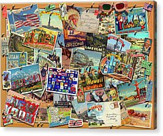 Postcard Usa Acrylic Print by Garry Walton