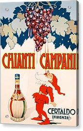 Poster Advertising Chianti Campani Acrylic Print