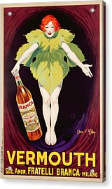 Poster Advertising Fratelli Branca Vermouth Acrylic Print by Jean DYlen