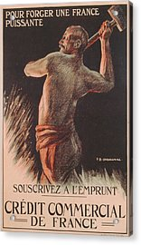 Poster Advertising The French National Loan Acrylic Print