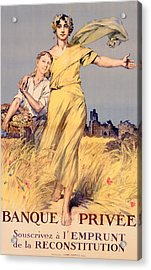 Poster Advertising The National Loan Acrylic Print by Rene Lelong