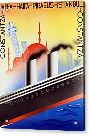 Poster Advertising The Polish Palestine Line Acrylic Print