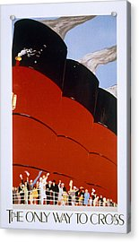Poster Advertising The Rms Queen Mary Acrylic Print by English School