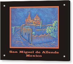 Poster - Cobblestone To The Basilica Acrylic Print by Marcia Meade