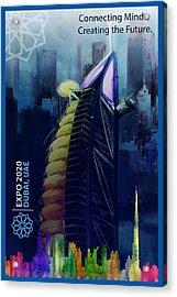 Poster Dubai Expo - 10 Acrylic Print by Corporate Art Task Force