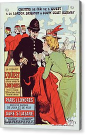 Poster For La Cie De Louest, Paris-londres Acrylic Print by Liszt Collection