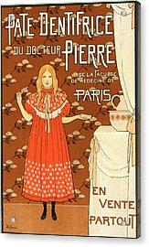 Poster For La Pâte Dentifrice Du Docteur Pierre Acrylic Print
