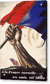 Poster For Liberation Of France From World War II 1944 Acrylic Print by Anonymous