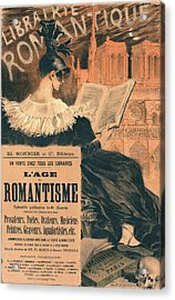 Poster For Librairie Romantique. Promoting The Book Lage Du Acrylic Print