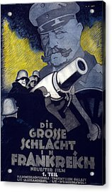 Poster For The Film The Great Battle Acrylic Print by Hans Rudi Erdt