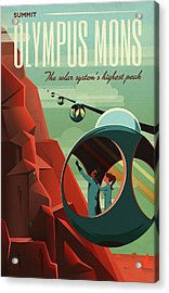 Poster For Tours Of Olympus Mons Acrylic Print by Nasa/science Photo Library