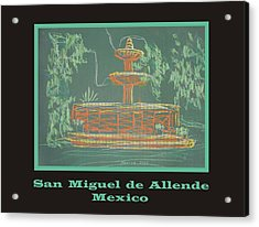 Poster - Green Fountain Acrylic Print by Marcia Meade