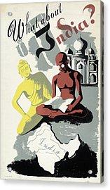 Poster India, C1943 Acrylic Print