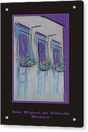 Poster - Purple Balcony Acrylic Print by Marcia Meade