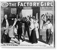 Poster The Factory Girl Acrylic Print by Granger
