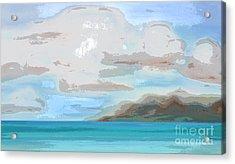 Posterized Landscape Alaska  Acrylic Print