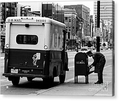 Acrylic Print featuring the photograph Postman by Tom Brickhouse