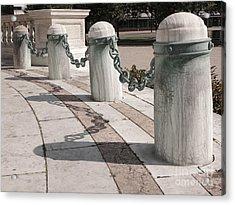 Posts And Chains At Niagara Square Acrylic Print