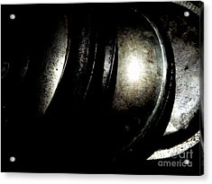 Acrylic Print featuring the photograph Pot Lids by Newel Hunter