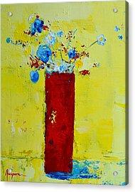 Pot Of Wild Flowers Acrylic Print by Patricia Awapara