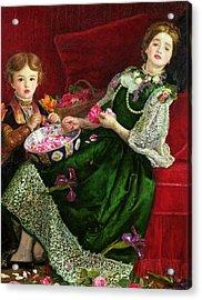 Pot Pourri  Acrylic Print by Sir John Everett Millais
