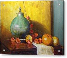 Pot With Fruit Acrylic Print