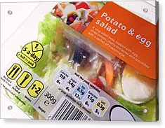 Potato And Egg Salad Acrylic Print by Mark Sykes