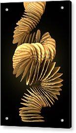 Potato Chip Stack Falling Acrylic Print