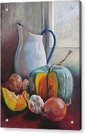 Potential Pumpkin Soup Acrylic Print by Lynda Robinson