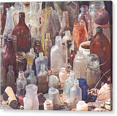 Acrylic Print featuring the mixed media Potions And Elixirs by Carla Woody