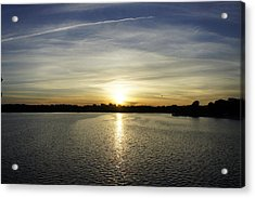 Potomac Sunset Acrylic Print by Laurie Perry