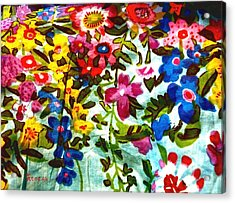 Potpourri Flowers Acrylic Print