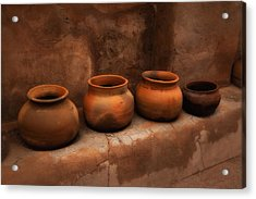 Acrylic Print featuring the photograph Pots ... by Chuck Caramella