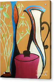 Pots And Petals Acrylic Print by Marie Bulger