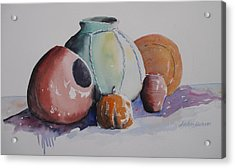 Acrylic Print featuring the painting Pots by John  Svenson