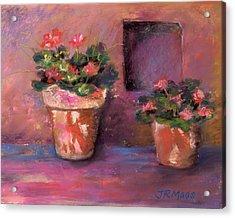 Pots N' Plants Acrylic Print by Julie Maas