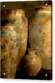 Acrylic Print featuring the painting Pots Of Time by Michael Pickett