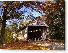 Potter's Bridge In Fall Acrylic Print