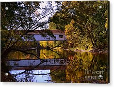 Potter's Covered Bridge Reflection Acrylic Print