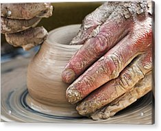 Potter's Wheel Acrylic Print by Diana Angstadt