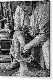 Potters Wheel V1 Acrylic Print by John Straton