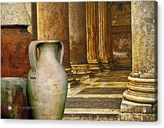 Pottery From Another Time  Acrylic Print by Carolyn Marchetti