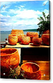 Pottery Market Diessen Acrylic Print by The Creative Minds Art and Photography