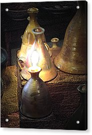 Pottery Oil Lamp  Acrylic Print