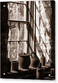 Pottery On A Stone Sill Acrylic Print