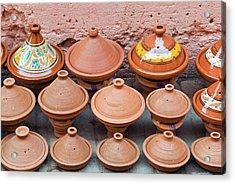 Pottery Pans (tajiniere Acrylic Print by Nico Tondini