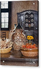 Pottery Acrylic Print by Patricia Hofmeester