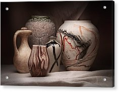 Pottery Still Life Acrylic Print by Tom Mc Nemar