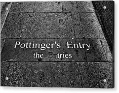 Pottinger's Entry Acrylic Print