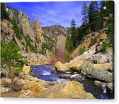 Poudre Canyon Acrylic Print by Bob Beardsley